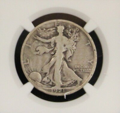 1921 D Key Date NGC Graded Very Good Walking Liberty Silver Half Dollar
