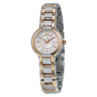 Bulova Silver Dial Two-Tone Gold Stainless Steel Quartz Women's Watch 98L153