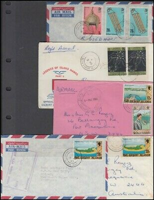 GILBERT ISLANDS 1976-7 GROUP AIRMAIL COVERS (x5) (ID:153/D54497)