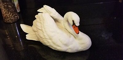 Masterpiece Porcelain Swan Graceful Reflection