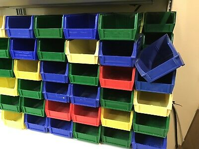 Plastic stackable bins for small parts storage - SIXTEEN PCS (16 pc) pack