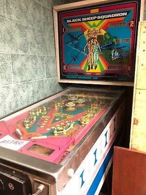 RARE Vintage 1979 Astro Games Black Sheep Squadron Pinball Machine - Pickup Only