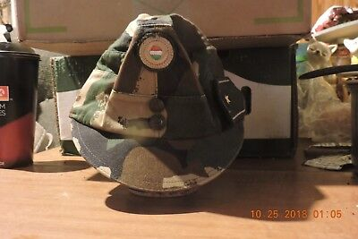Genuine Hungarian camo army cap military field hat with color badge size about 7