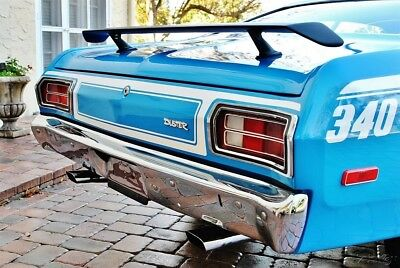 1973 Plymouth Duster Spectacular  Broadcast Sheet Low Miles Factory A/C 1973 duster 340 Factory A/C Believed 21k  Miles Power Steering & Brakes