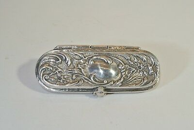 Rare Dunhill Silver Pill/snuff Box - Beautifully Adorned - Excellent Condition