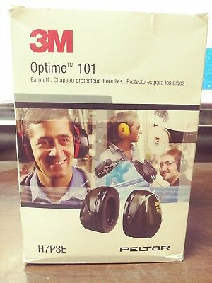 3M Peltor Optime 101 Hard Hat Attaching Earmuffs 24 Db Sound Reduction New Box