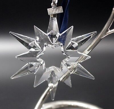 Swarovski Crystal 1997 Annual Star Snowflake Christmas Ornament Mint