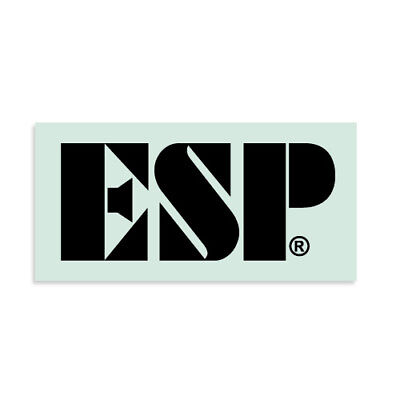 ESP® Logo Waterslide Headstock Decal BLACK Banana