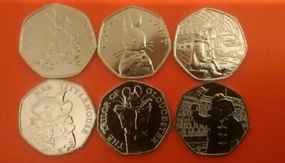 2018 BEATRIX POTTER 50P Set and PADDINGTON BEAR SET Black Friday BARGAIN PRICE.