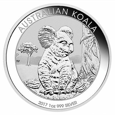 Lot of 5 - 2017 1oz Australian Silver Koala .999 Fine BU