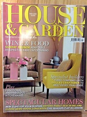 House and Garden magazine May 2010.