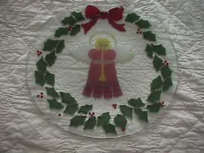 peggy karr Christmas angel plate 11 inches