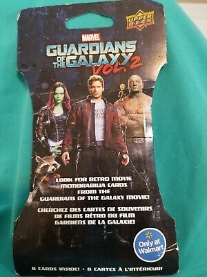 Marvel Guardians Of The Galaxy Movie Vol 2 Walmart Upper Deck 8 Cards Pack 2017