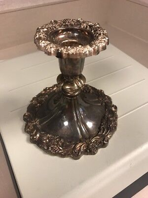 Antique Sheffield Silver Plate Of Italy Chamber Candle Stick?