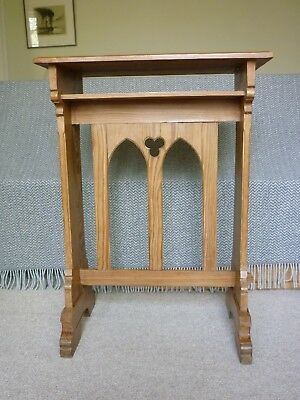 Beautiful Antique Pitch Pine Arts & Crafts Church Table, excellent condition