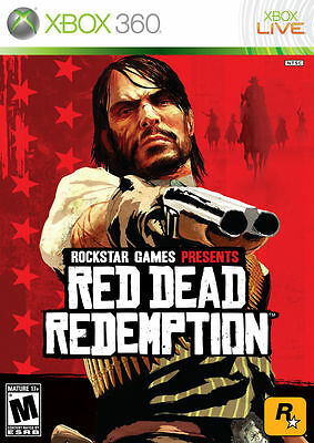 Red Dead Redemption (Microsoft Xbox 360, 2010) -Complete - UNTESTED