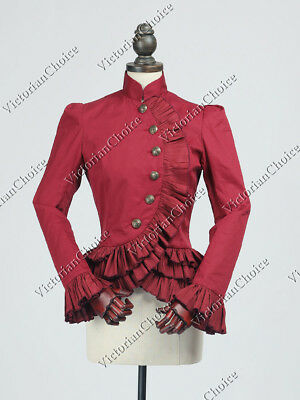 Victorian Christmas Riding Jacket Military Blazer Steampunk Clothing N C032 L