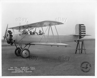 Vintage Photo Consolidated Aircraft Courier Model 1927 1558 Promotional Antique