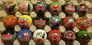 Lot of 18 Coca Cola Advertising Glass Marbles