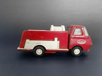 """Vintage 1960's TONKA Red White Fire Pumper Truck 5 3/4"""" Long"""