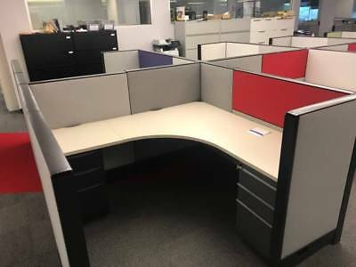 Nice Haworth 6'x6' Office Cubicles Workstations