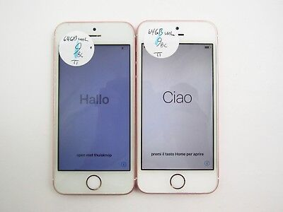 Lot of 2 Account Locked Apple iPhone SE A1662 64GB Unlocked Check IMEI GL 3-1543