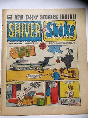 IPC Magazines SHIVER & SHAKE Comic. August 10th 1974. **Free UK Postage**