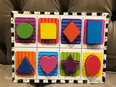 Melissa and Doug - Shapes Wooden Chunky Puzzle