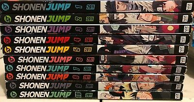 Shonen Jump Magazine Lot Of 10(2011)