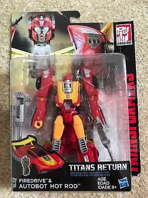 Transformers Generations Titans Return FIredrive & AUTOBOT HOT ROD  deluxe