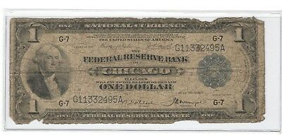 1918 CHICAGO National Currency One Dollar Large U.S. Note - No Reserve!
