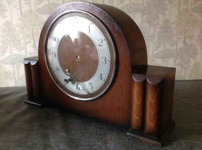 Antique Mantle Clock Case 32x21x8cm With Bezel Glass And Hands