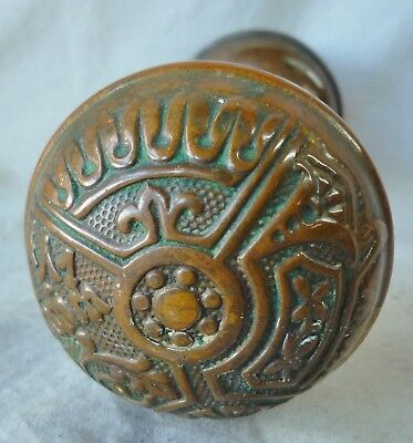 "Door Knobs (per pair/set) BRASS Eastlake Old Patina ""Ceylon"" by Corbin (Per set)"