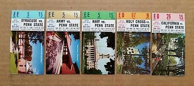 Penn State Football Game Tickets (5),1961