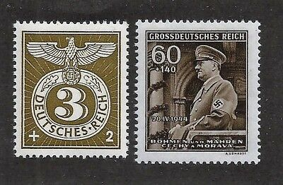 Original WW2 Nazi Germany 3rd Third Reich Hitler and Feldpost Eagle stamps MNH