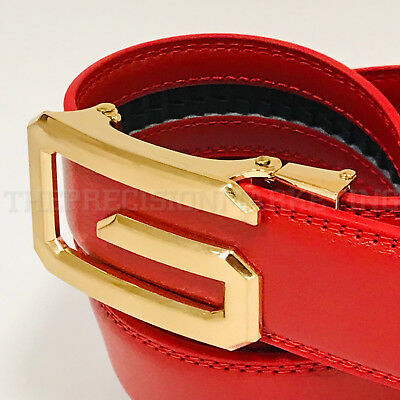 Fashion Men's Women's Automatic G Gold Buckle Slide Designer Leather Belt 2018