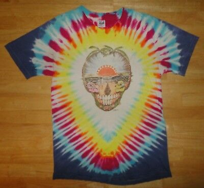 Vintage 1991 GRATEFUL DEAD SPRING TOUR ORLANDO Tie Dye Thrashed Shirt - Adult Lg