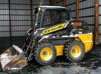 2011 NEW HOLLAND L220 Skid Steer Rubber Wheel Loader Cat Aux HF AUX HYD 2SPEED