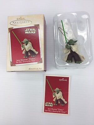 Yoda Star Wars Christmas Tree Ornament Jedi Master 2003 Hallmark Keepsake
