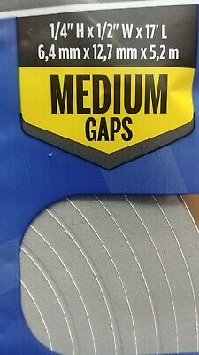 """NEW! M-D BUILDING PRODUCTS Door And Window Foam Weather Stripping 1/4"""" x 17'"""