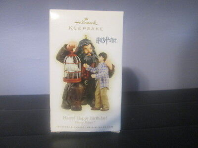 Hallmark Keepsake Ornament Harry Happy Birthday, Hagrid Hedwig Harry Potter 2009