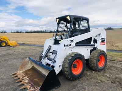 Bobcat S220G Skid Steer Rubber Wheel Loader Cat Aux Hyd Kubota Diesel WE SHIP