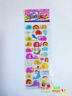 Popular Animal Sticker Party Toy Puffy Kid Cartoon Stickers Elephant Gift 1pc