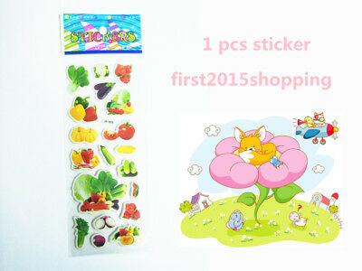 1pc Hot Alive Fruit & Vegetable Stickers Doll Craft Lifelike Kid Party Toy Gift