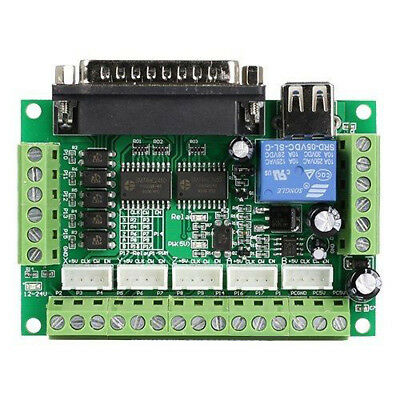 Breakout Board 5 Axis MACH3 CNC Interface for Stepper Motor Driver