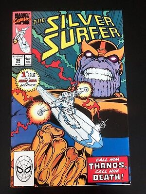 SILVER SURFER # 34 NM INFINITY GAUNTLET Prelude 1st Modern Thanos NM Key Issue