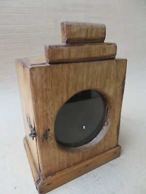 ANTIQUE Soft WOOD CABINET GLASS DOOR MINI DISPLAY SHOWCASE Old TABLE WATCH BOX