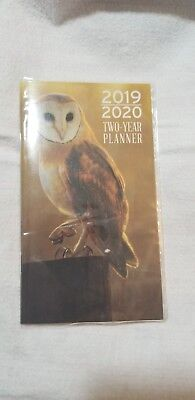 2019-2020 Two 2 Year Owl PLANNER Pocket Purse Bird Calendar