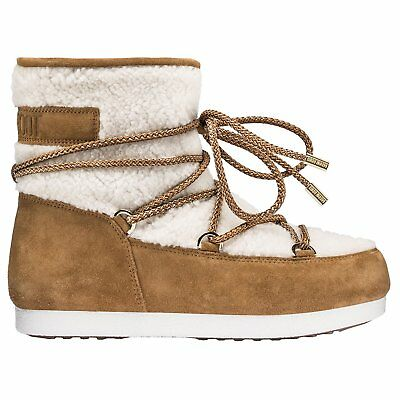 Moon Boot Far Side Low Shearling Womens Boots - Whiskey All Sizes