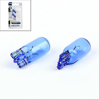2x Genuine Philips Bulbs 12961BV T10 W5W 12V5W 4000K Blue Vision White Light E1